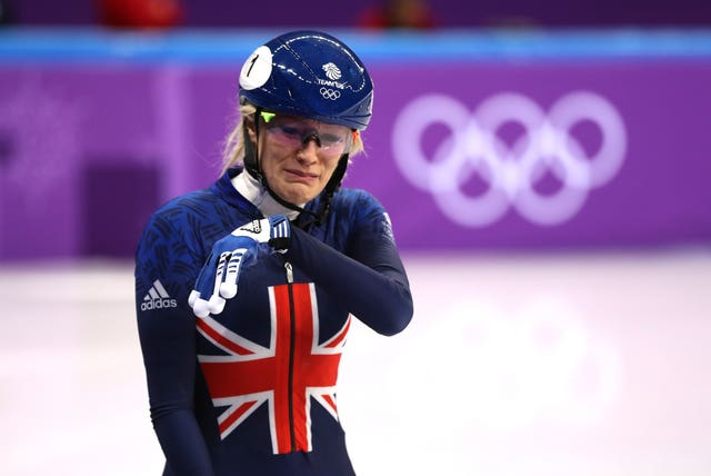 Elise Christie could not hide her dismay after her latest Olympic setback