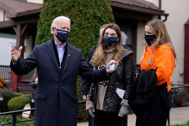 Joe Biden visited his childhood home in Scranton, Pennsylvania as voters went to the polls