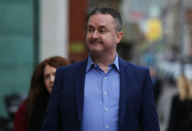 Gay rights activist Gareth Lee arrives at court (Brian Lawless/PA)