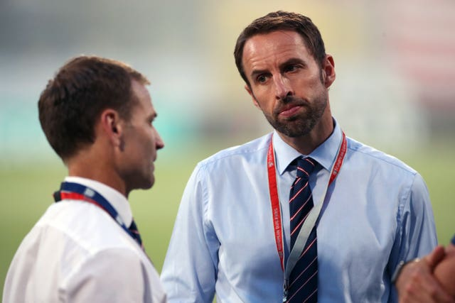 Dan Ashworth, left, and Gareth Southgate
