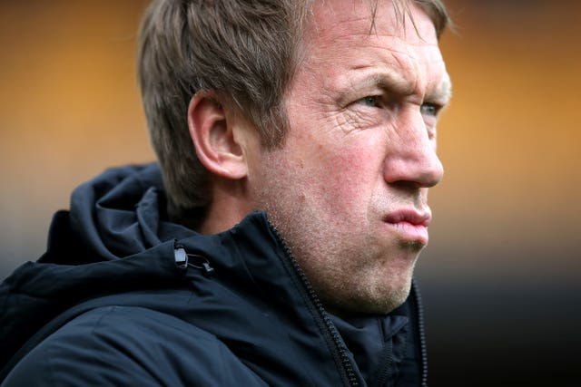 Graham Potter's Brighton sit two points clear of the drop zone but have won only twice in 18 league games