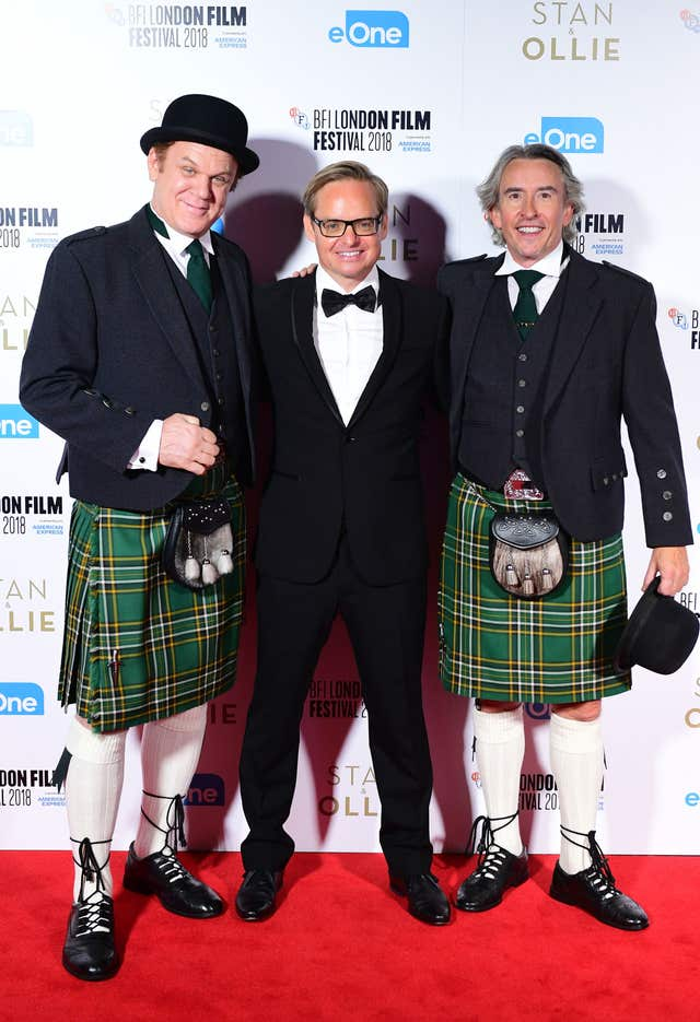 Coogan and Reilly stand alongside director Jon S Baird at the film's premiere in London (Ian West/PA)