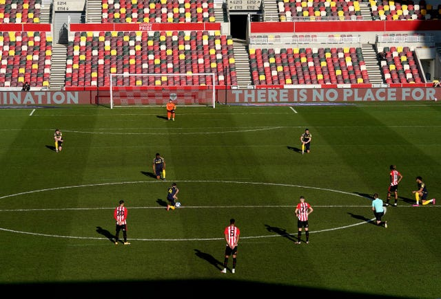 Brentford players decided last month to stop taking a knee ahead of kick-off.