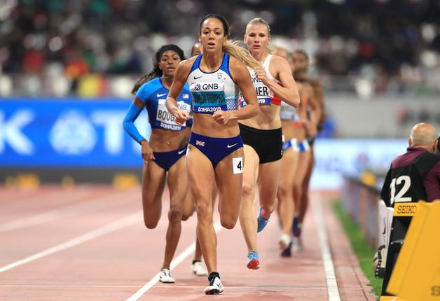 Johnson-Thompson dominated the heptathlon, including winning the final event, the 800 metres