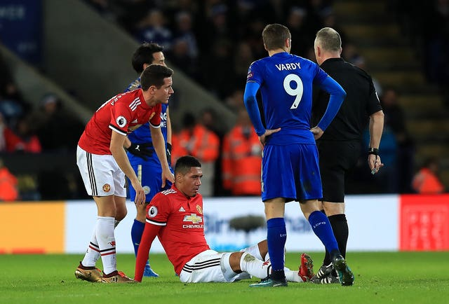 Chris Smalling picked up an injury against Leicester