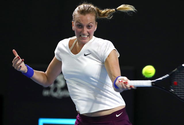 Petra Kvitova at the Brisbane International tennis tournament in Australia