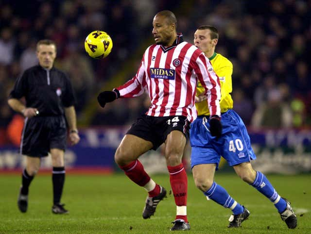 Georges Santos, left, played his last game for Sheffield United that day