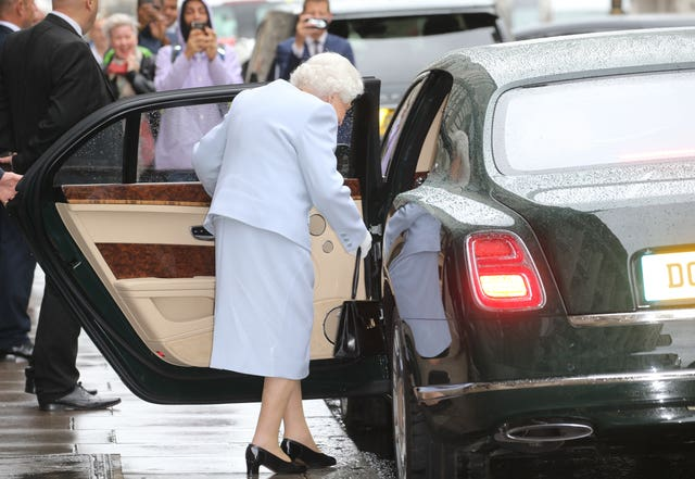 The Queen leaving the lunch on Thursday (Isabel Infantes/PA)