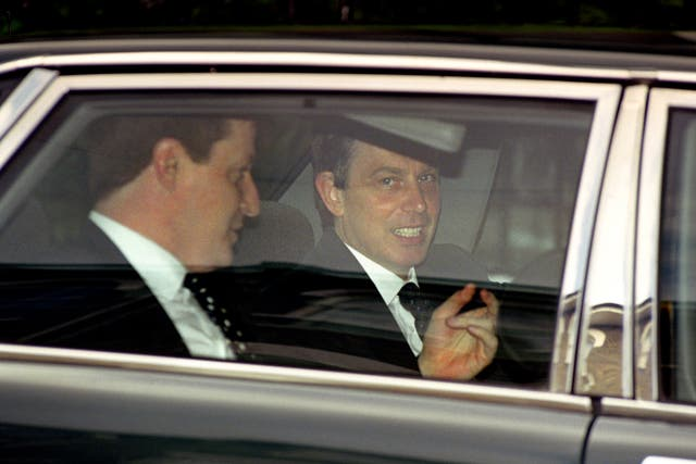 Alastair Campbell with Tony Blair (Martyn Hayhow/PA)