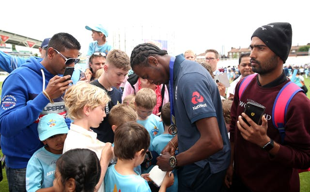 It is likely to be a long time before fans see England players like Jofra Archer up close.