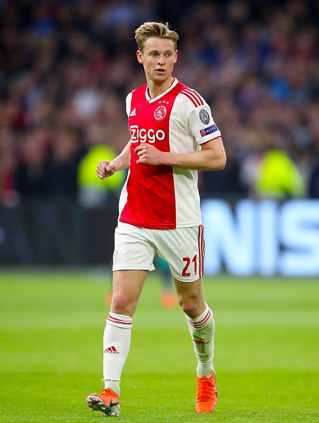 Rice has been impressed by the progress of Ajax's Frenkie De Jong