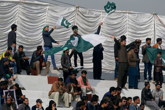 Pakistan fans in the stands
