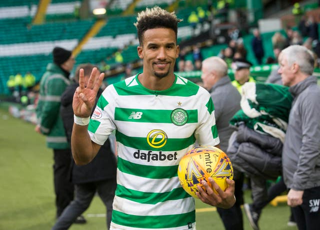 Scott Sinclair scored a hat-trick in the William Hill Scottish Cup fifth-round match against St Johnstone