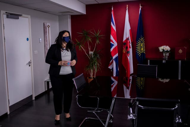 Gibraltar health minister Samantha Sacramento at her office
