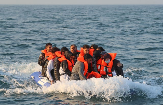 Migrants crossing the Channel