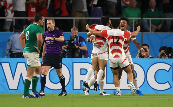 Kenki Fukuoka cemented his place in Japan's rugby folklore with a try against Ireland.