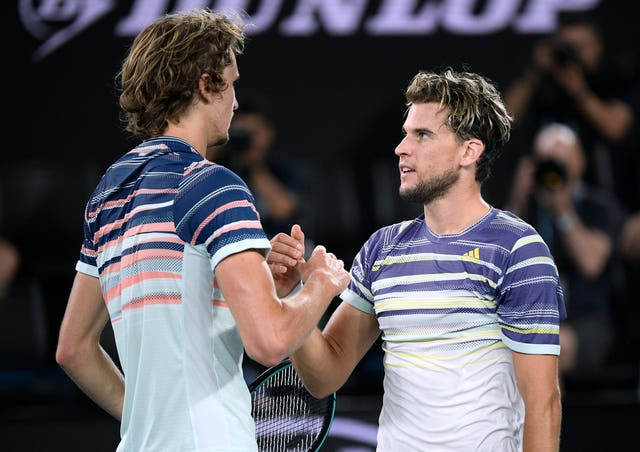 Thiem, right, will face Djokovic in the final