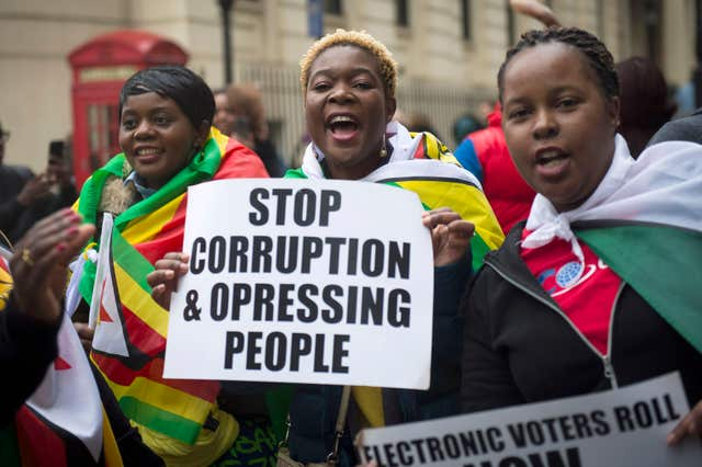 Zimbabwe Embassy demonstration – London