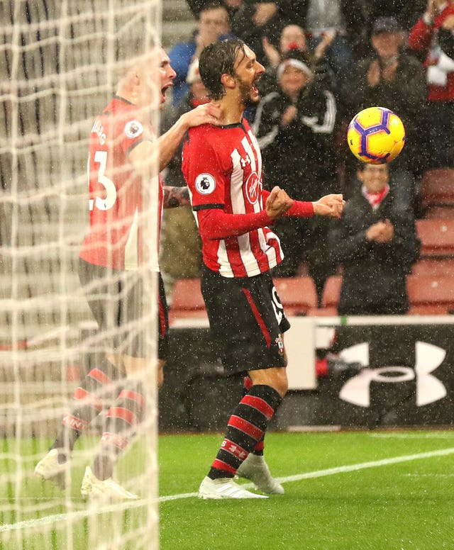 Manolo Gabbiadini gave Saints the lead at St Mary's
