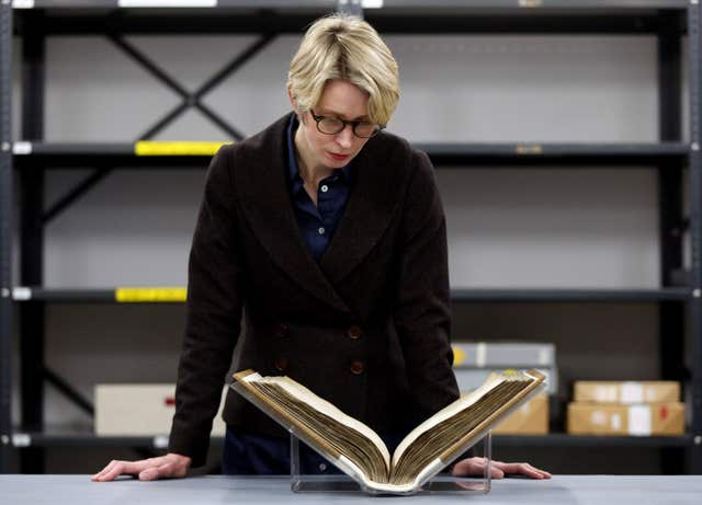 Domesday book (Jonathan Brady/PA)