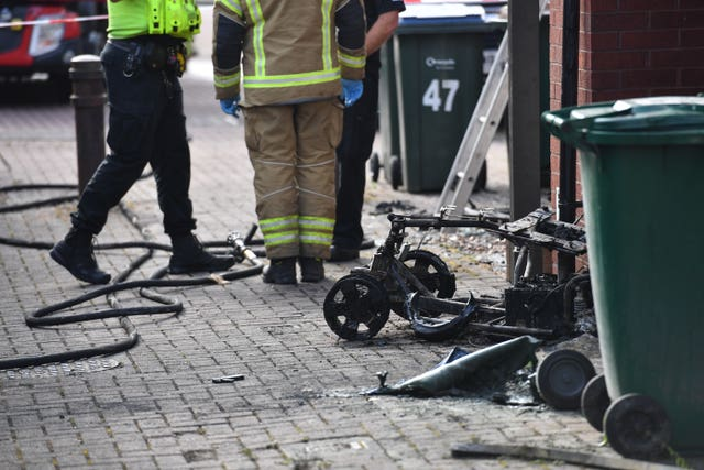 Malcolm Turner's mobility scooter was set alight