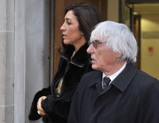 Tycoon Bernie Ecclestone and his wife Fabiana Flosi