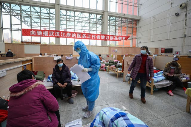 A temporary hospital in Wuhan