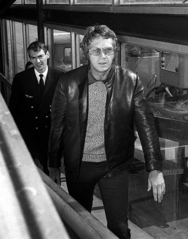 Steve McQueen –  Heathrow Airport – London – 1970