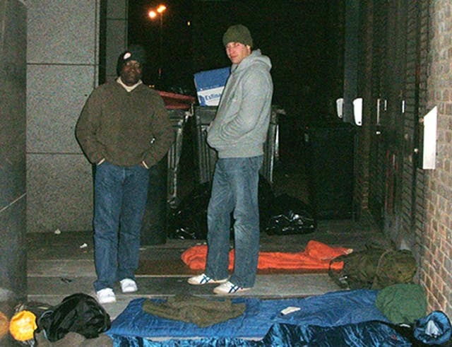 Prince sleeps rough for charity