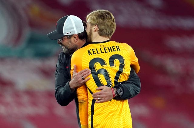 Liverpool manager Jurgen Klopp could not hide his delight at Kelleher's performance