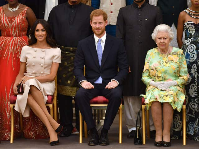 The Queen and Harry and Meghan
