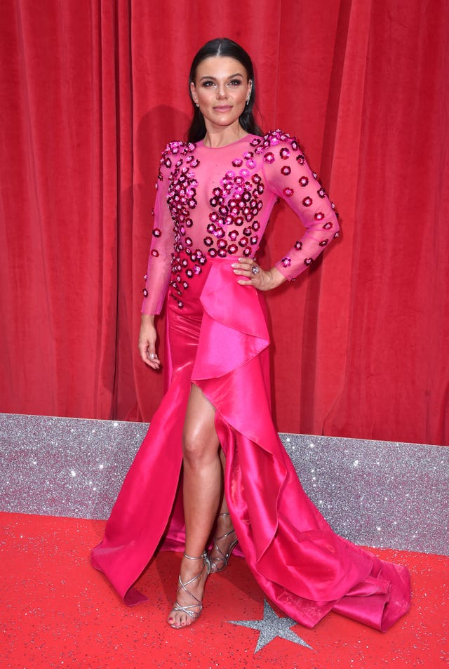 Faye Brookes on the red carpet