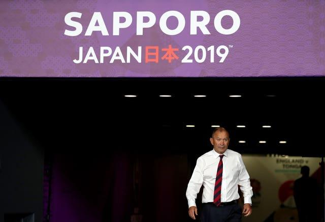 England head coach Eddie Jones saw his side's arrival in Japan hit by Typhoon Faxai.