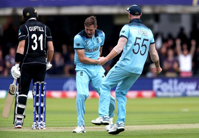 Martin Guptill (left) chose to review his LBW