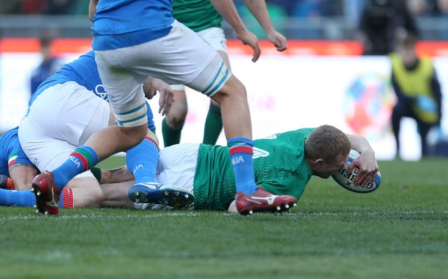 Keith Earls scored one of Ireland's tries