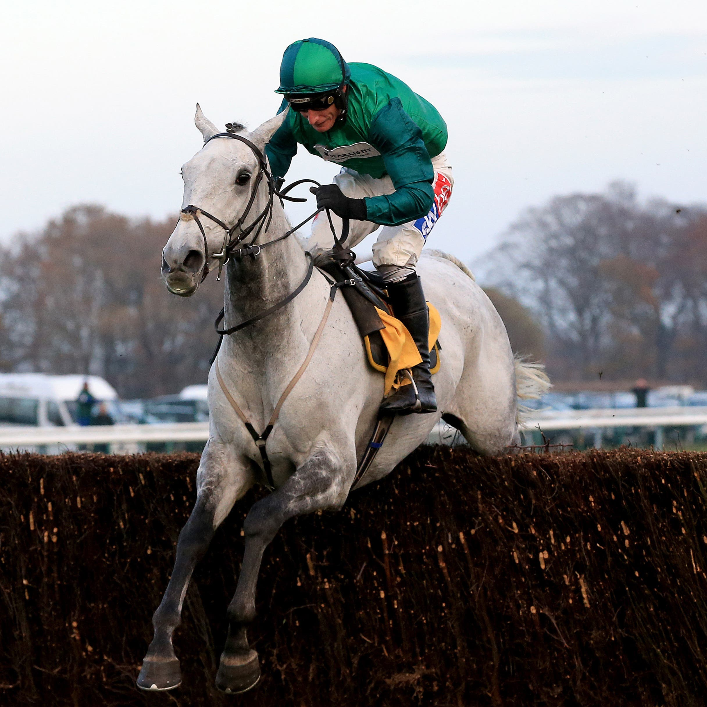 Bristol De Mai on his way to victory in the Betfair Chase at Haydock