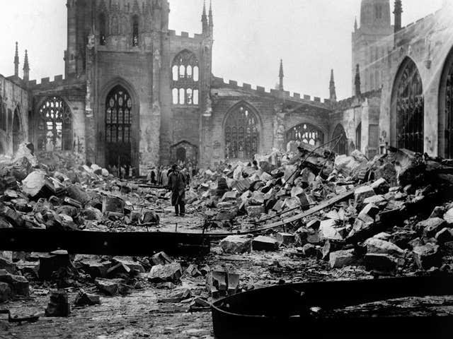 World War Two – British Empire – The Home Front – The Blitz – Coventry – 1940