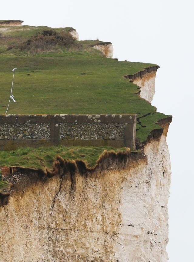 The bodies of a father and two sons were found at the foot of cliffs at Birling Gap near Eastbourne, East Sussex on Monday (Gareth Fuller/PA)