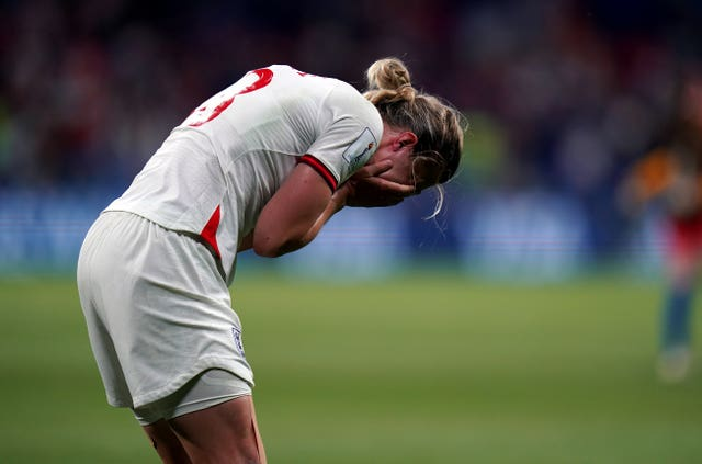 White appears dejected after the final whistle