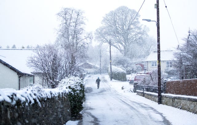 Winter weather Dec 27th 2020