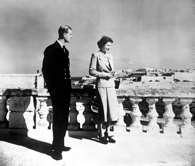 Royalty – Princess Elizabeth and Duke of Edinburgh – Malta