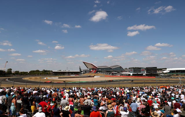 Fans watch the 2018 British Grand Prix at Silverstone