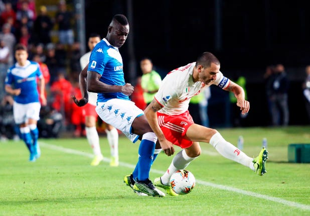 Mario Balotelli, left, made an encouraging debut for Brescia
