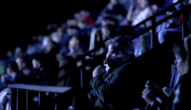 Fans were back watching a UK boxing event for the first time since March