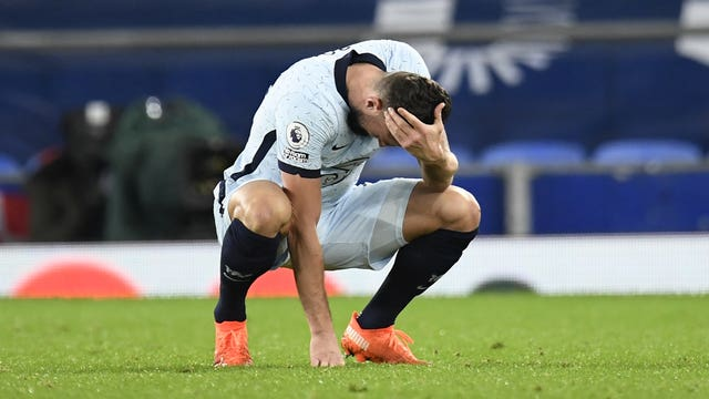 Chelsea's Olivier Giroud looks dejected after the final whistle on Saturday