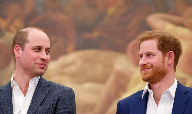 The Duke of Cambridge is best man to Prince Harry (Toby Melville/PA)