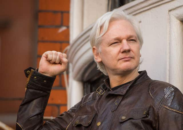 Julian Assange has been living at the Ecuadorian Embassy in London since 2012 (Dominic Lipinski/PA)