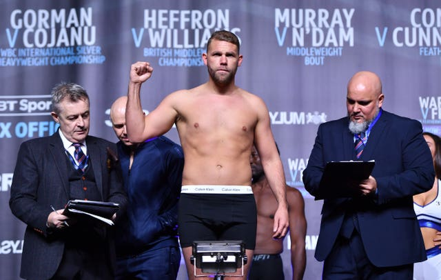 Billy Joe Saunders fights on the undercard (Anthony Devlin/PA)