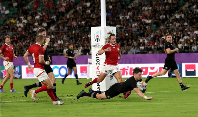 Beauden Barrett joined his two brothers in scoring against Canada