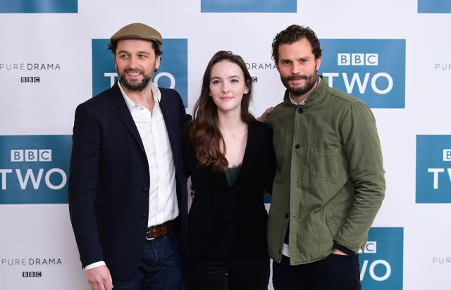 Matthew Rhys, Ann Skelly and Jamie Dornan at a screening for Death And Nightingales